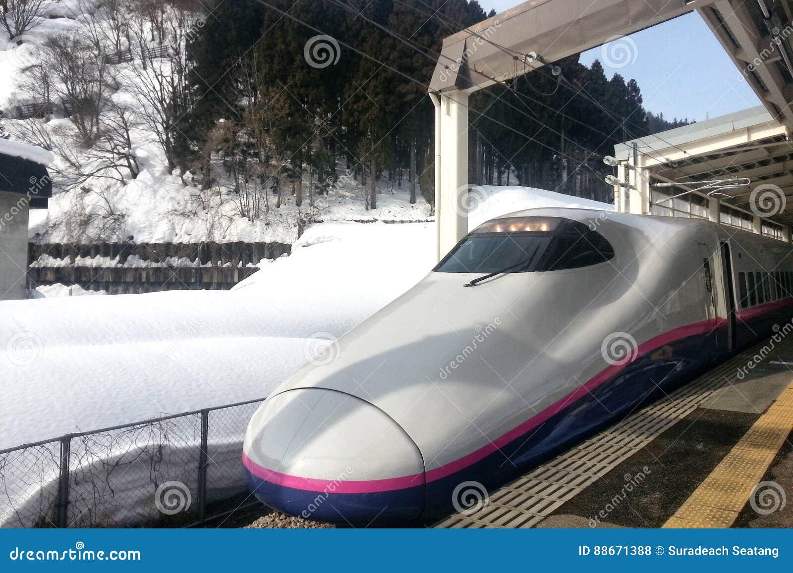 El tren expreso llega el ferrocarril