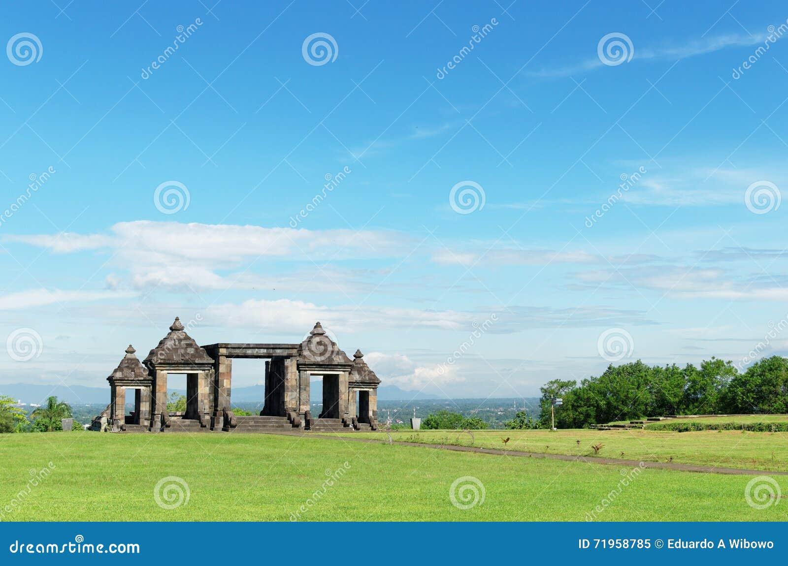 El tubo principal del complejo del palacio del boko del ratu