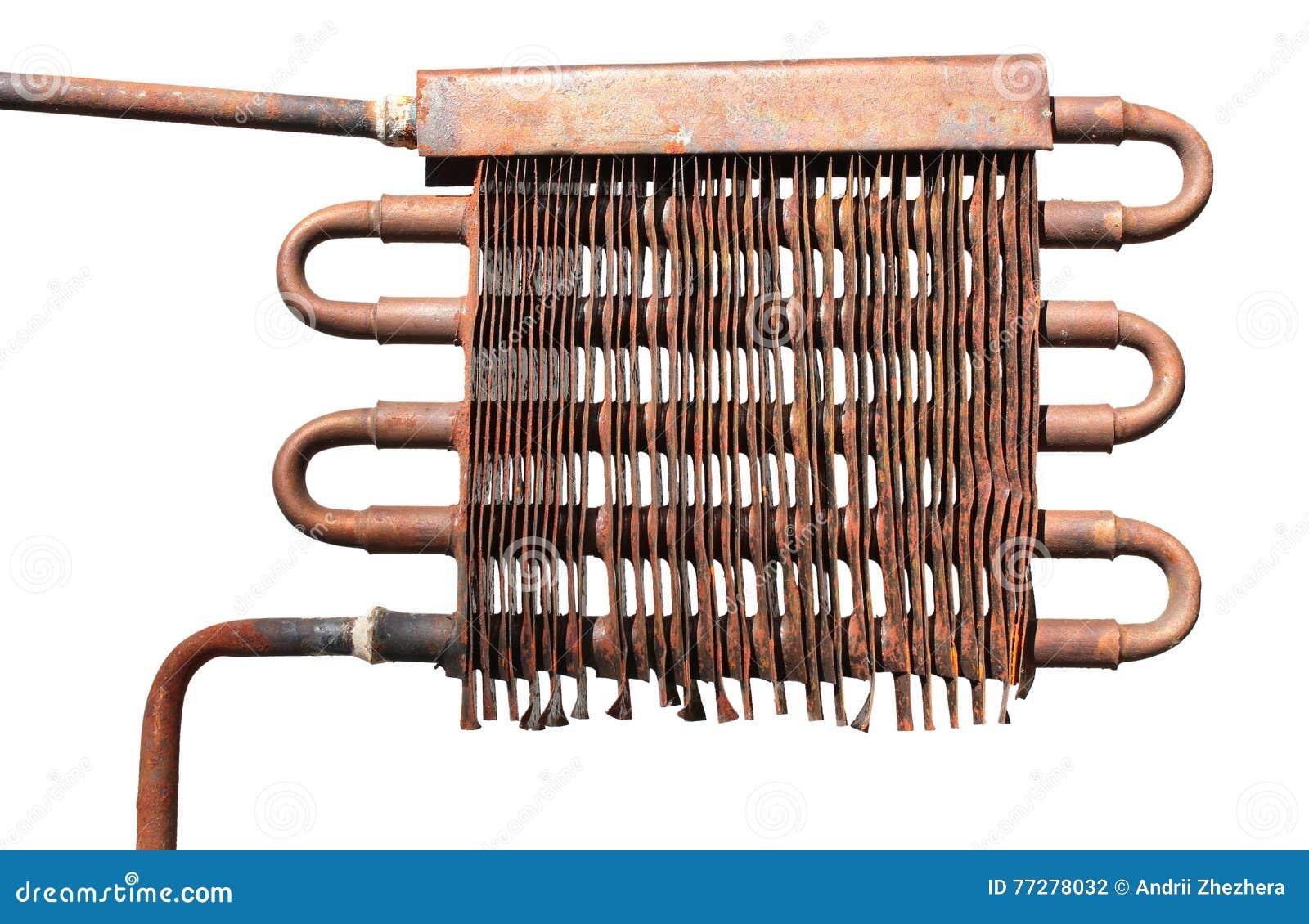 El tubo y el radiador de cobre de viejo dirigen el - Precio de tuberia de cobre ...