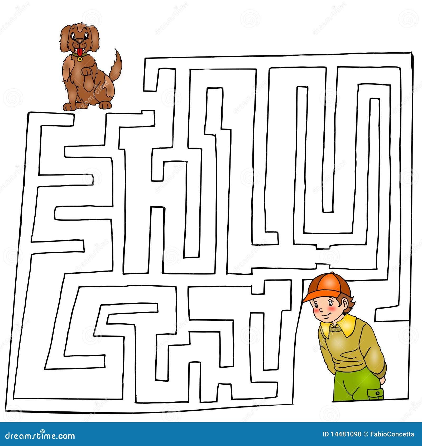 El Undecimo Juego Laberinto Stock De Ilustracion Ilustracion De