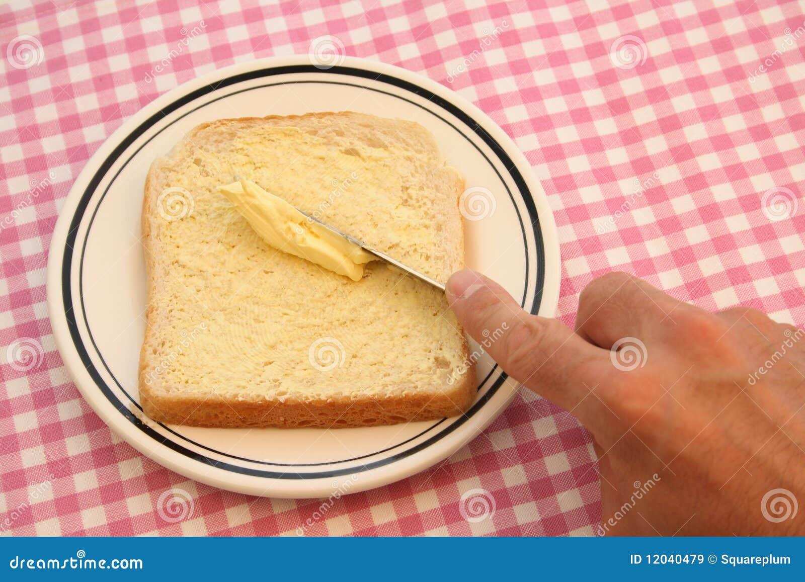 El untar con mantequilla imagen de archivo imagen de for Cuchillo para untar mantequilla
