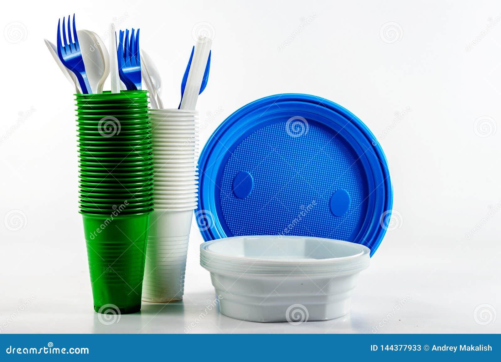 El vajilla disponible plástico brillante