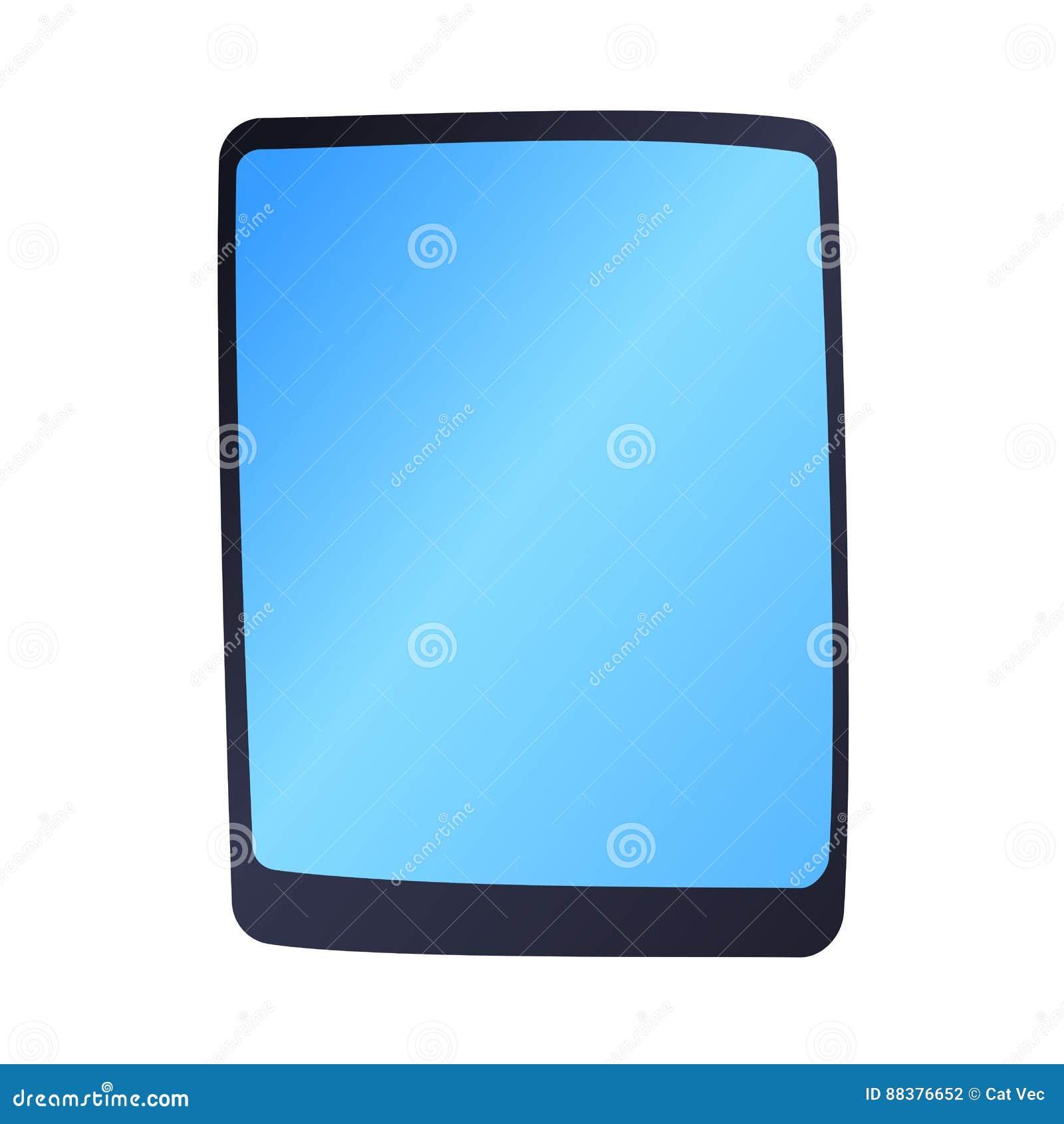 El Vector De La Tecnología De La Tableta Del Ordenador Aisló La ...