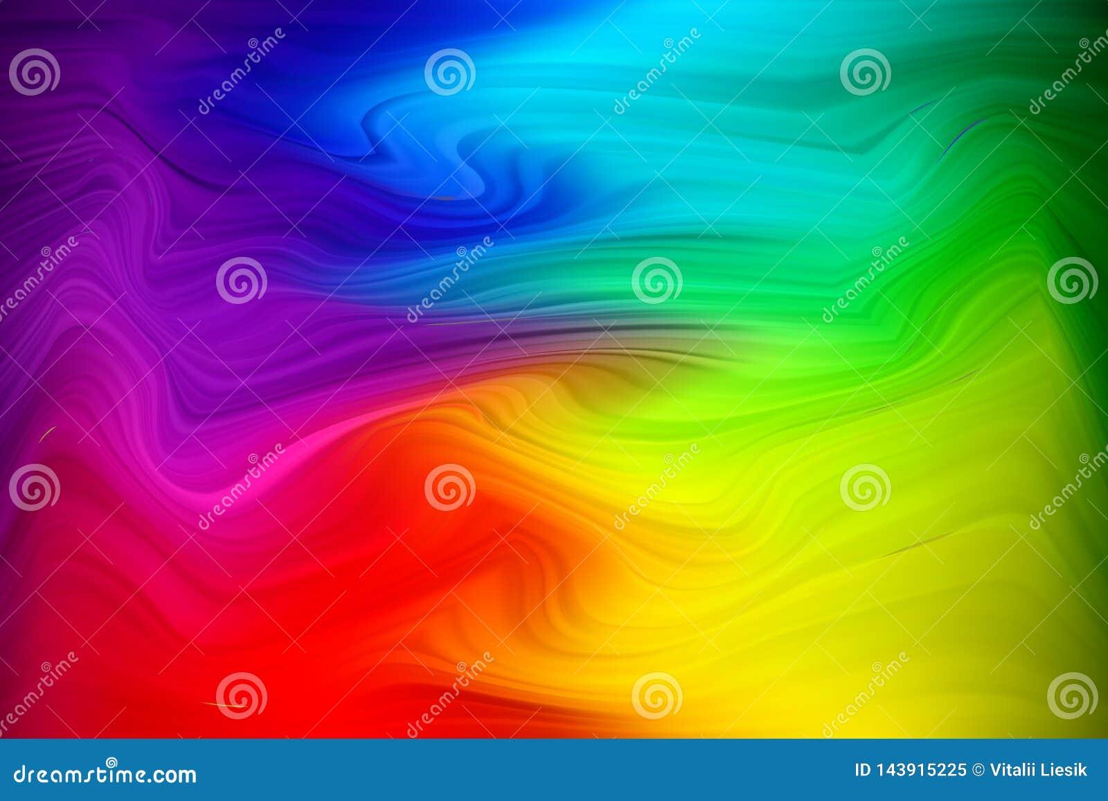 El vector deformado alinea el fondo colorido Contexto creativo abstracto moderno con las rayas variables multicoloras de la anchu