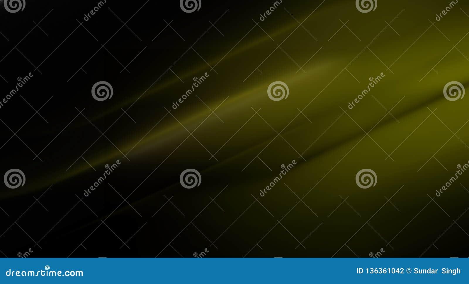 El verde del vector del extracto y el color negro sombrearon el fondo ondulado con el efecto luminoso, ejemplo del vector