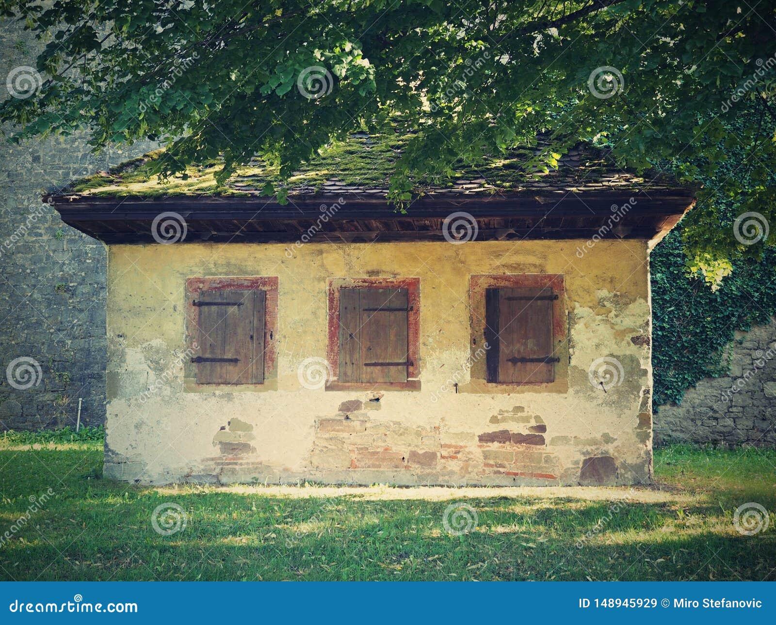 El viejo estilo del ARTE de la pequeña casa