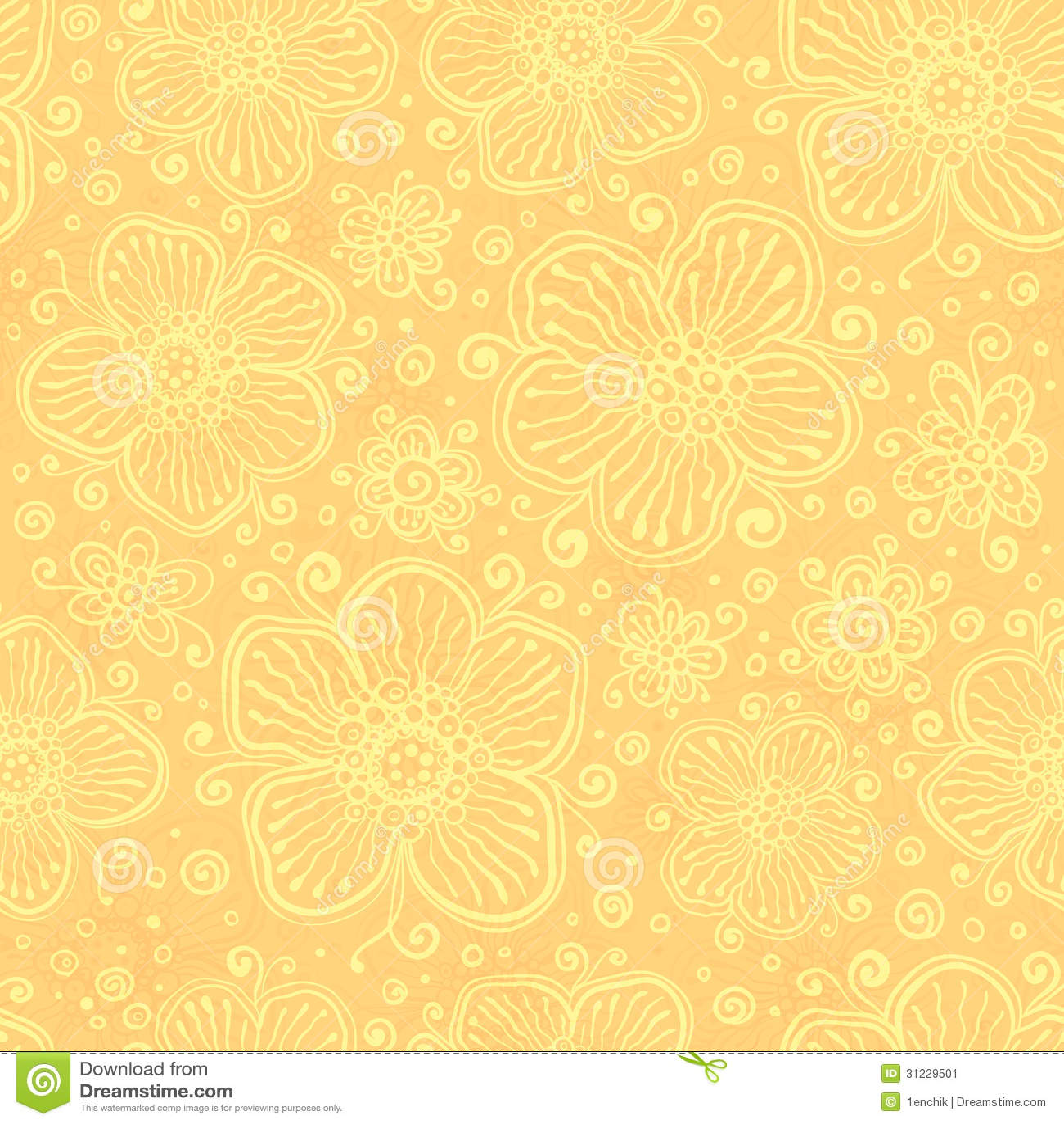 Hacer Del Baño Moco Amarillo:Light Yellow Flower Pattern
