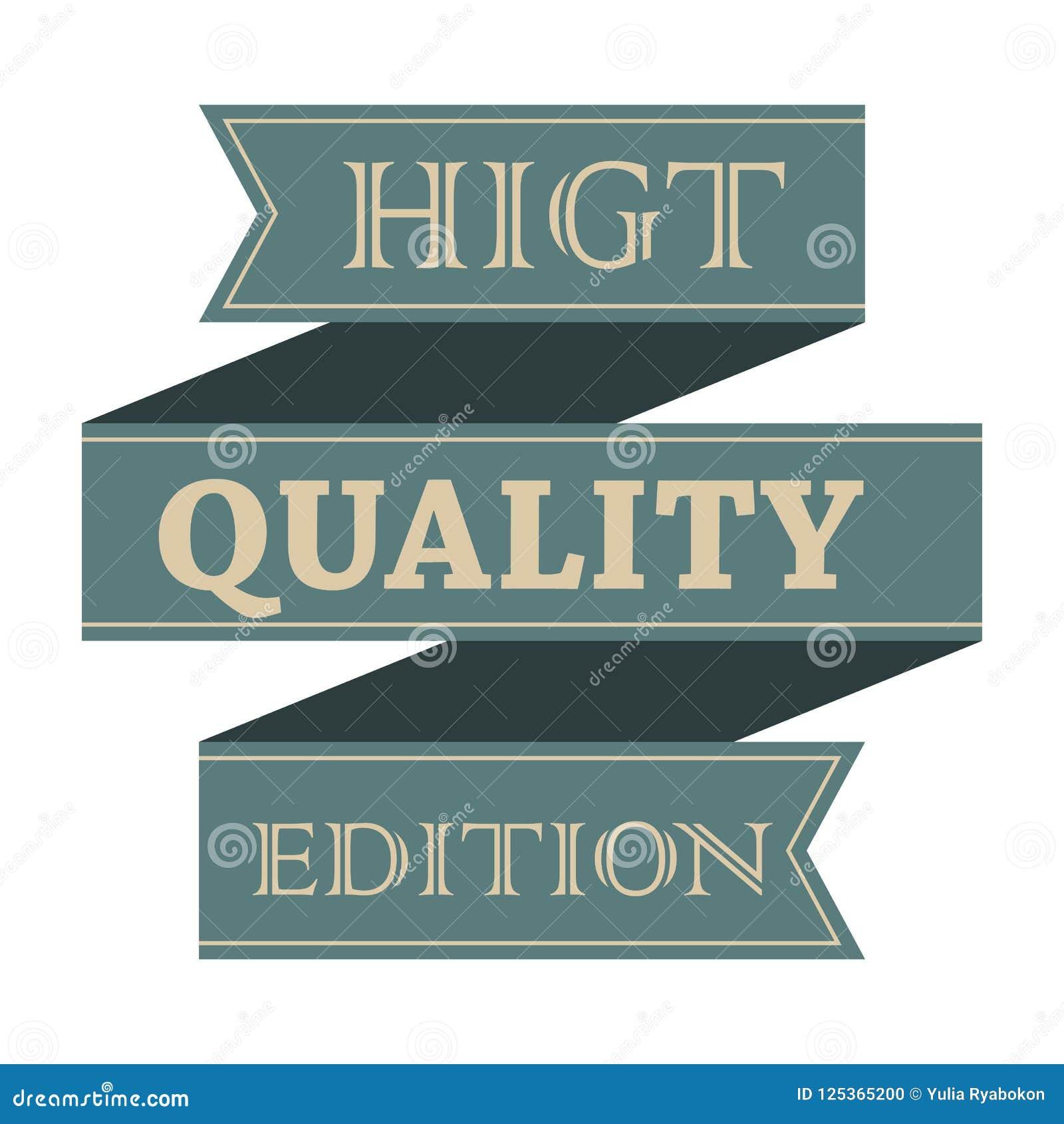 El vintage de la calidad de Higt diseñó la cinta