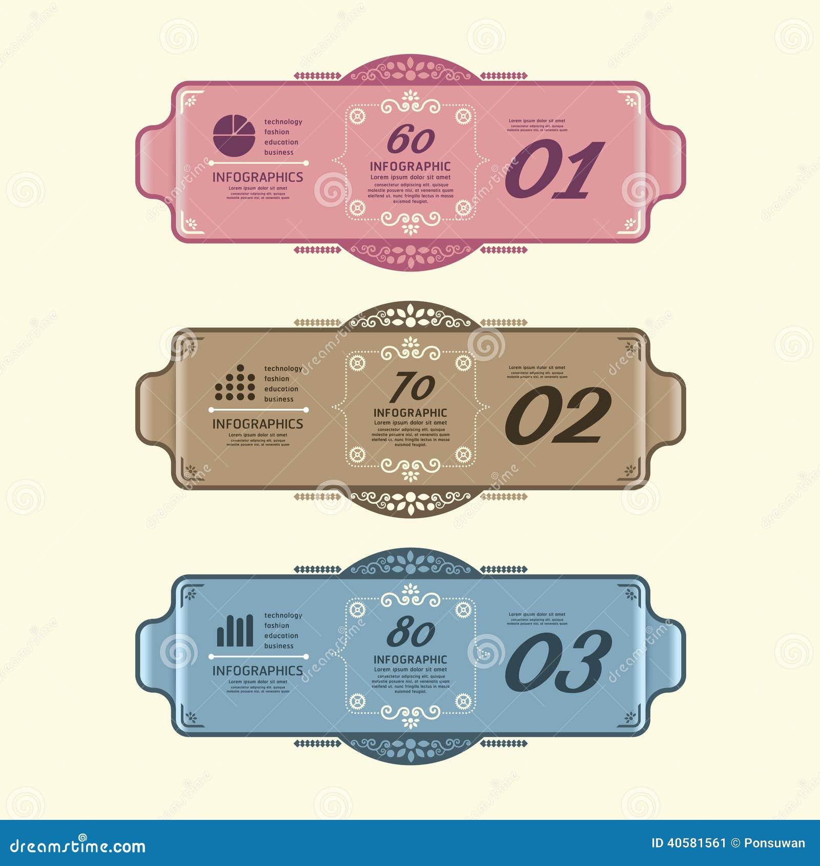 El Vintage Moderno Del Diseño De Infographic Etiqueta La Plantilla ...