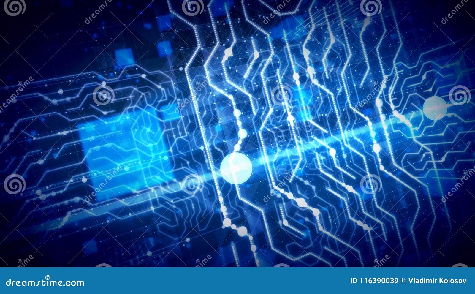 El volar dentro de los circuitos de semiconductor globales
