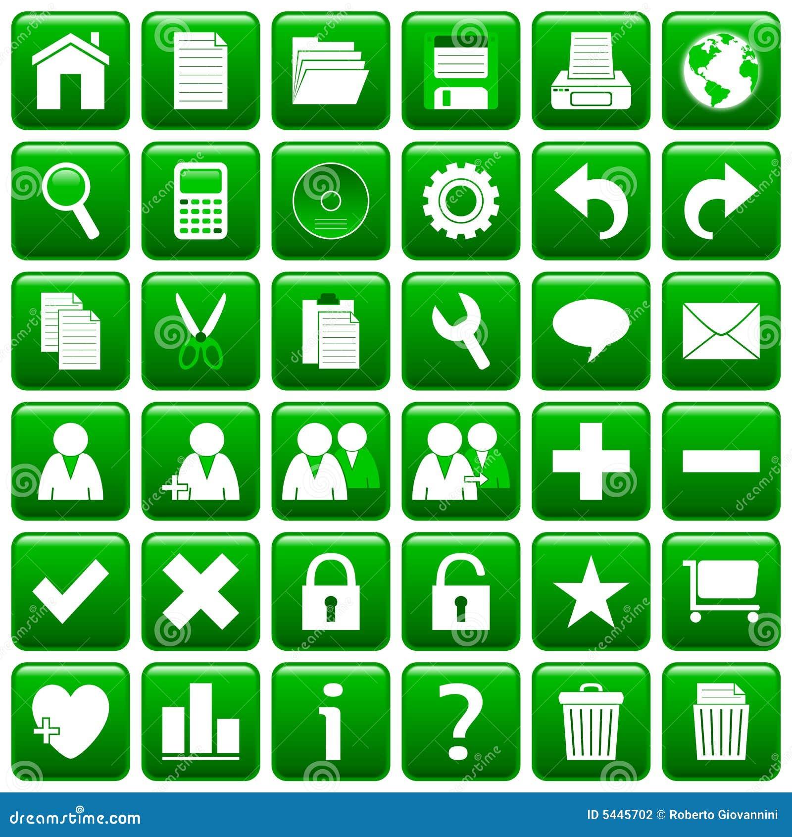 El Web cuadrado verde abotona [1]
