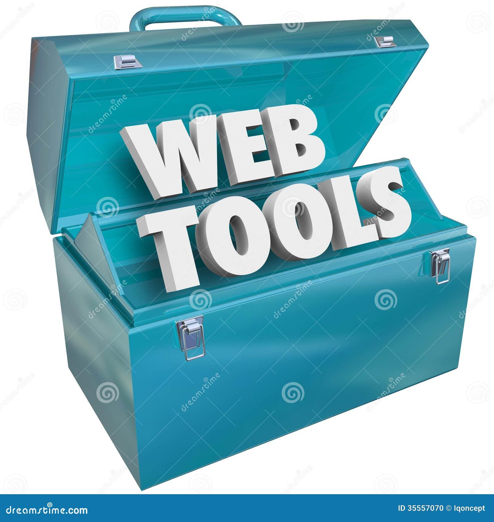 El web equipa el equipo en línea del desarrollador del sitio web de la caja de herramientas