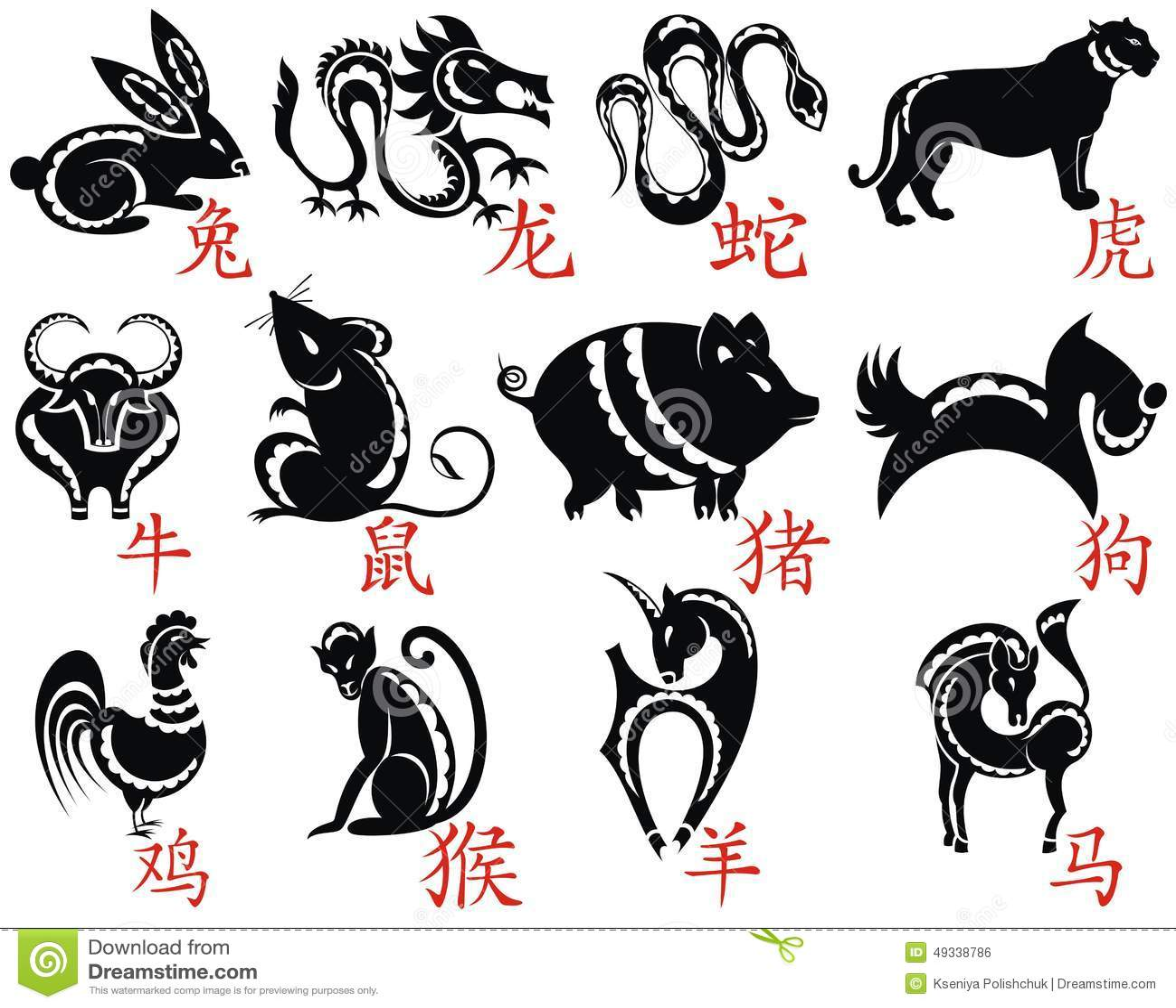 El zodiaco de doce chinos
