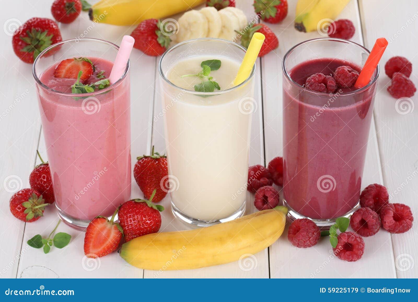 Download El Zumo De Fruta Del Smoothie Con Las Frutas Le Gustan Las Fresas, Frambuesas Imagen de archivo - Imagen de sacudida, jugo: 59225179