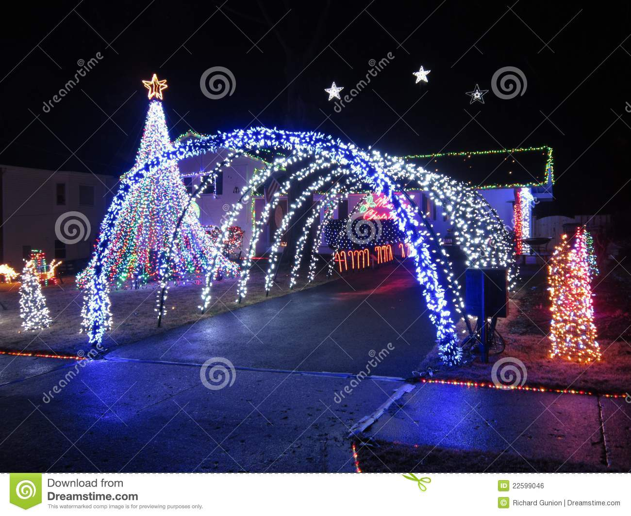 elaborate christmas decorations - Christmas Arch Decorations