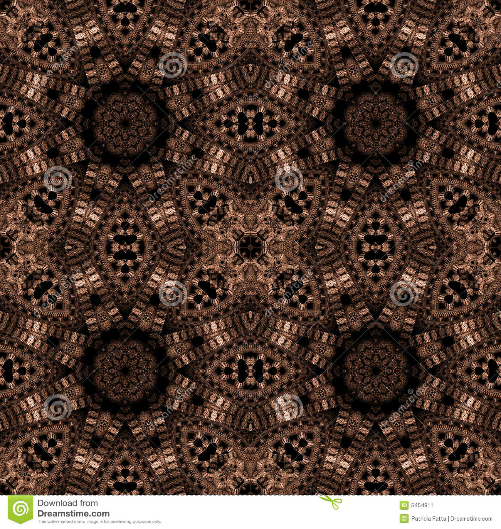 Abstract fractal image resembling elaborate filigree wallpaper.