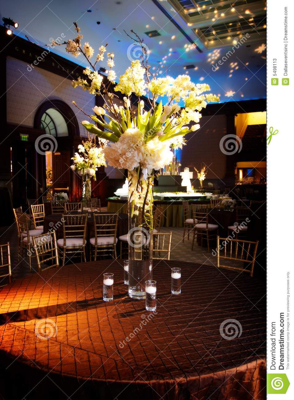 Elaborate Table Setting At A Wedding Reception Stock Image