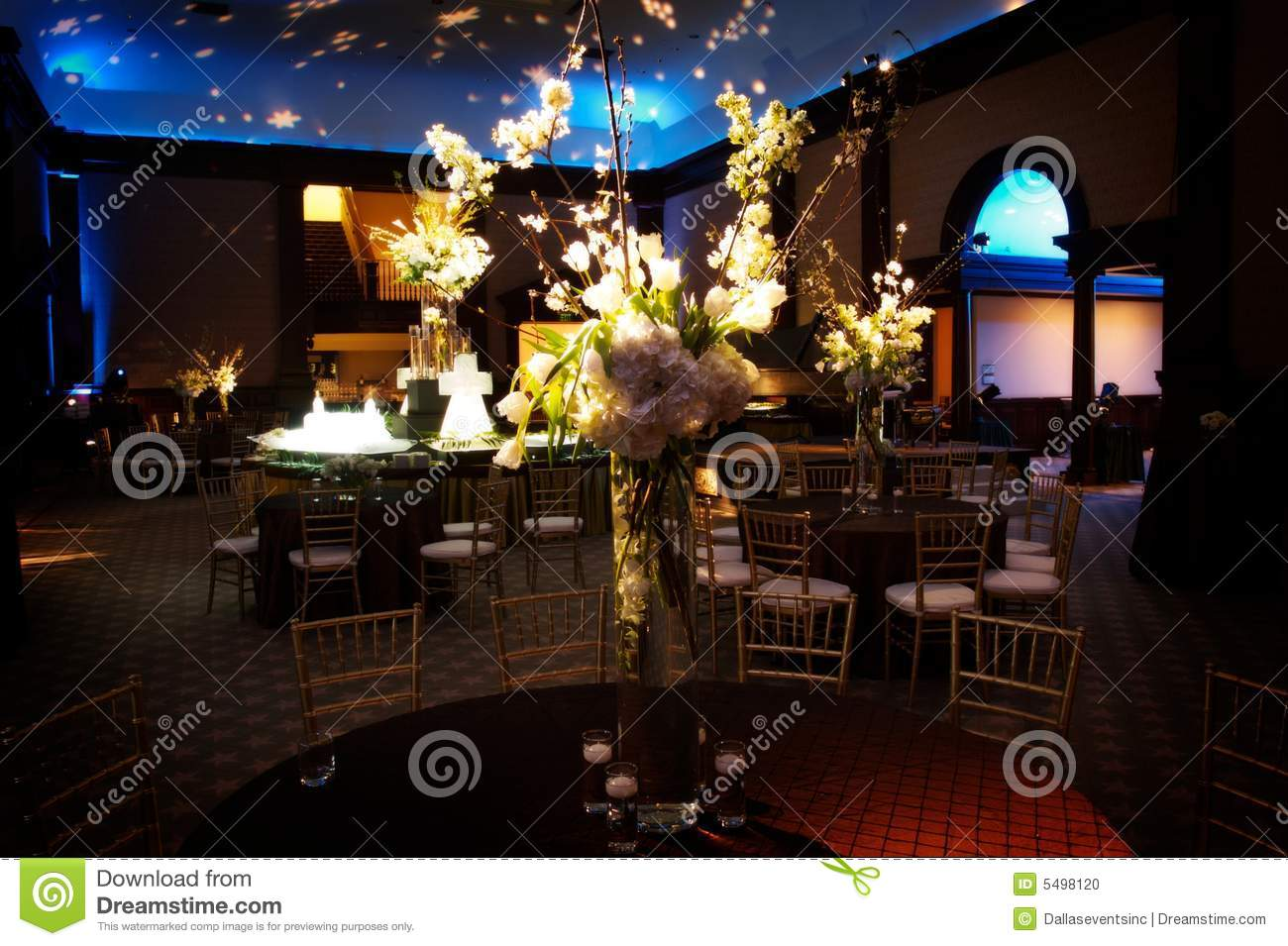 Elaborate table setting at a wedding reception