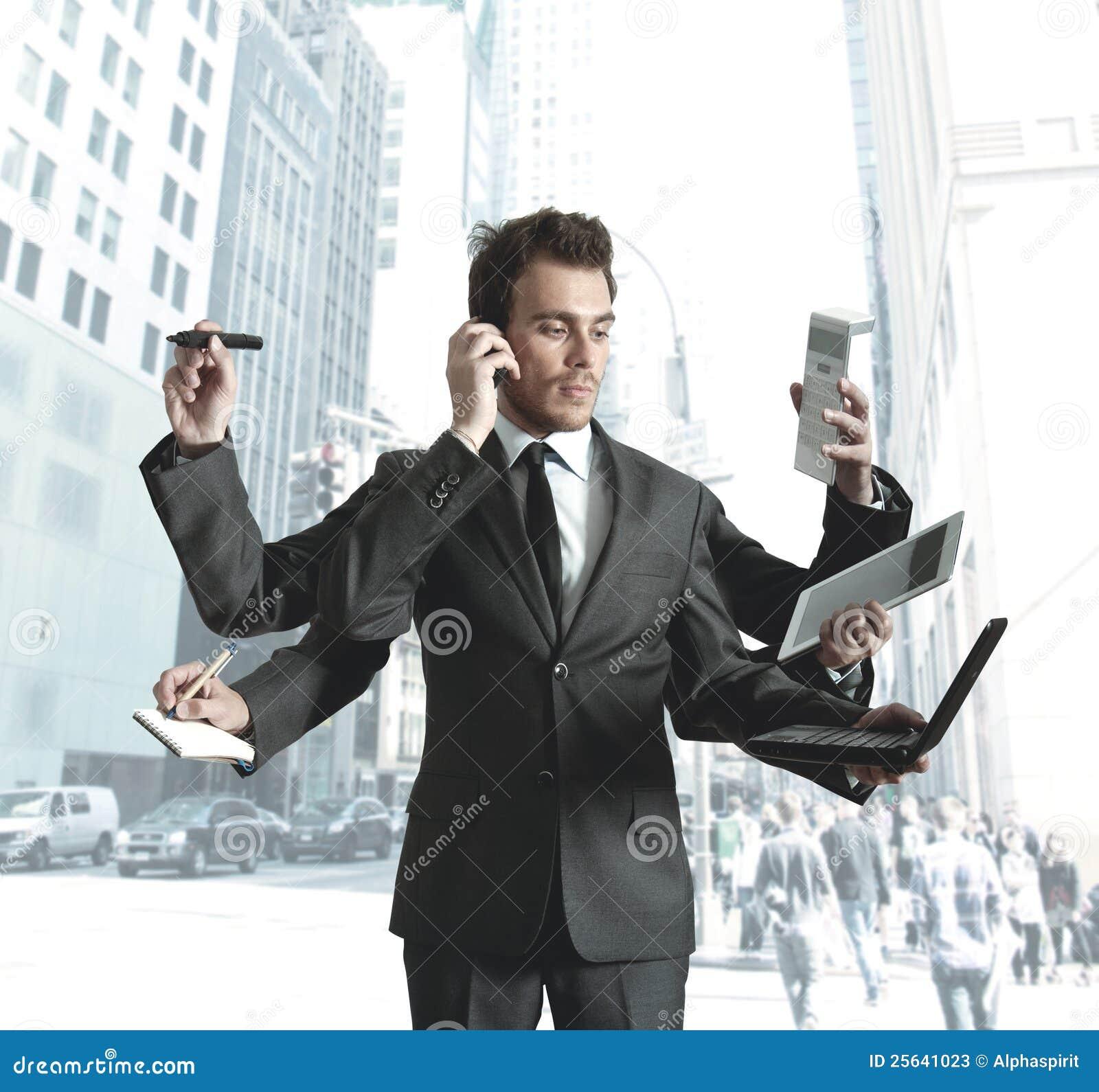 Elaborazione multitask dell uomo d affari
