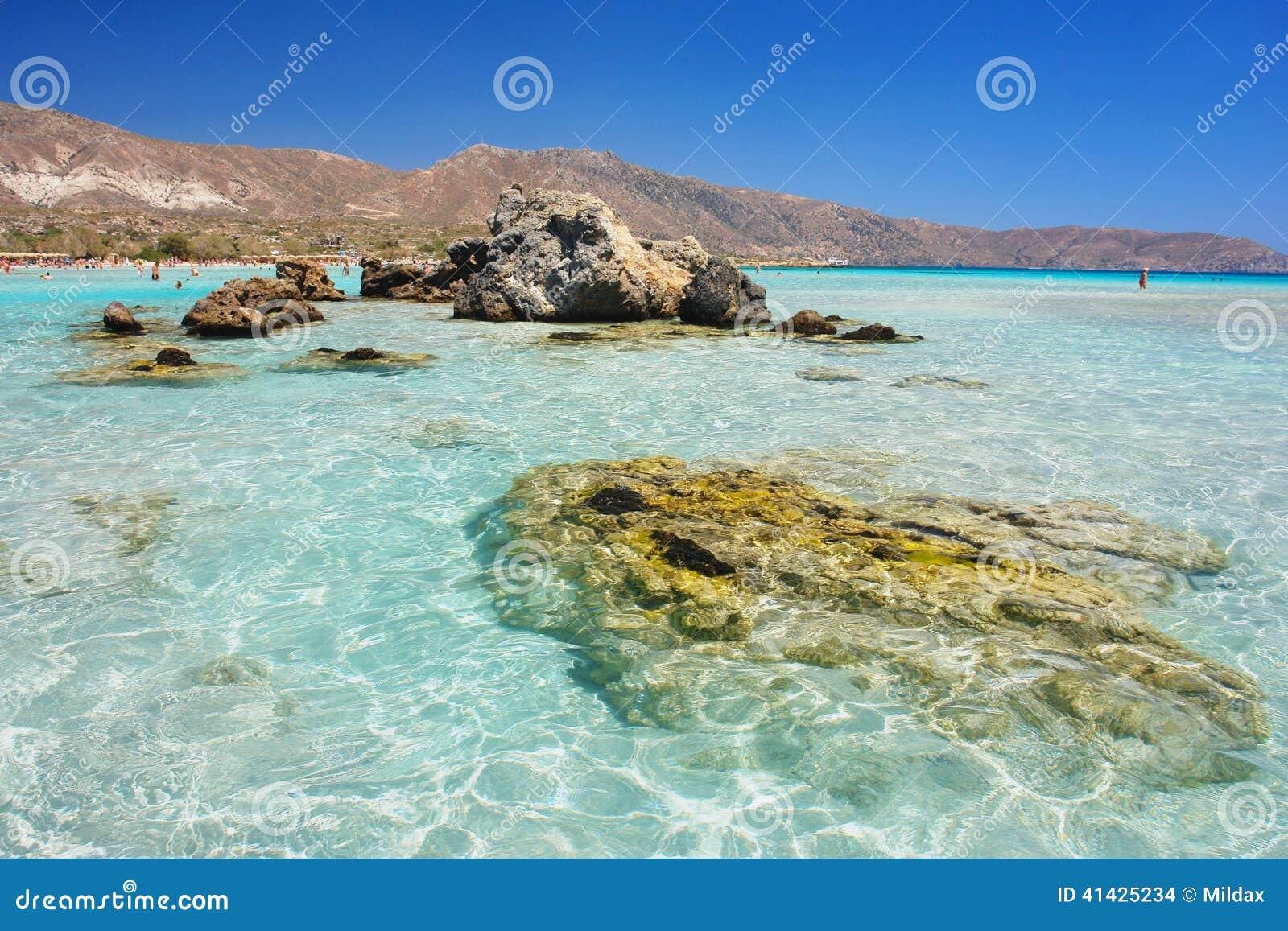 Elafonisi Крита пляжа