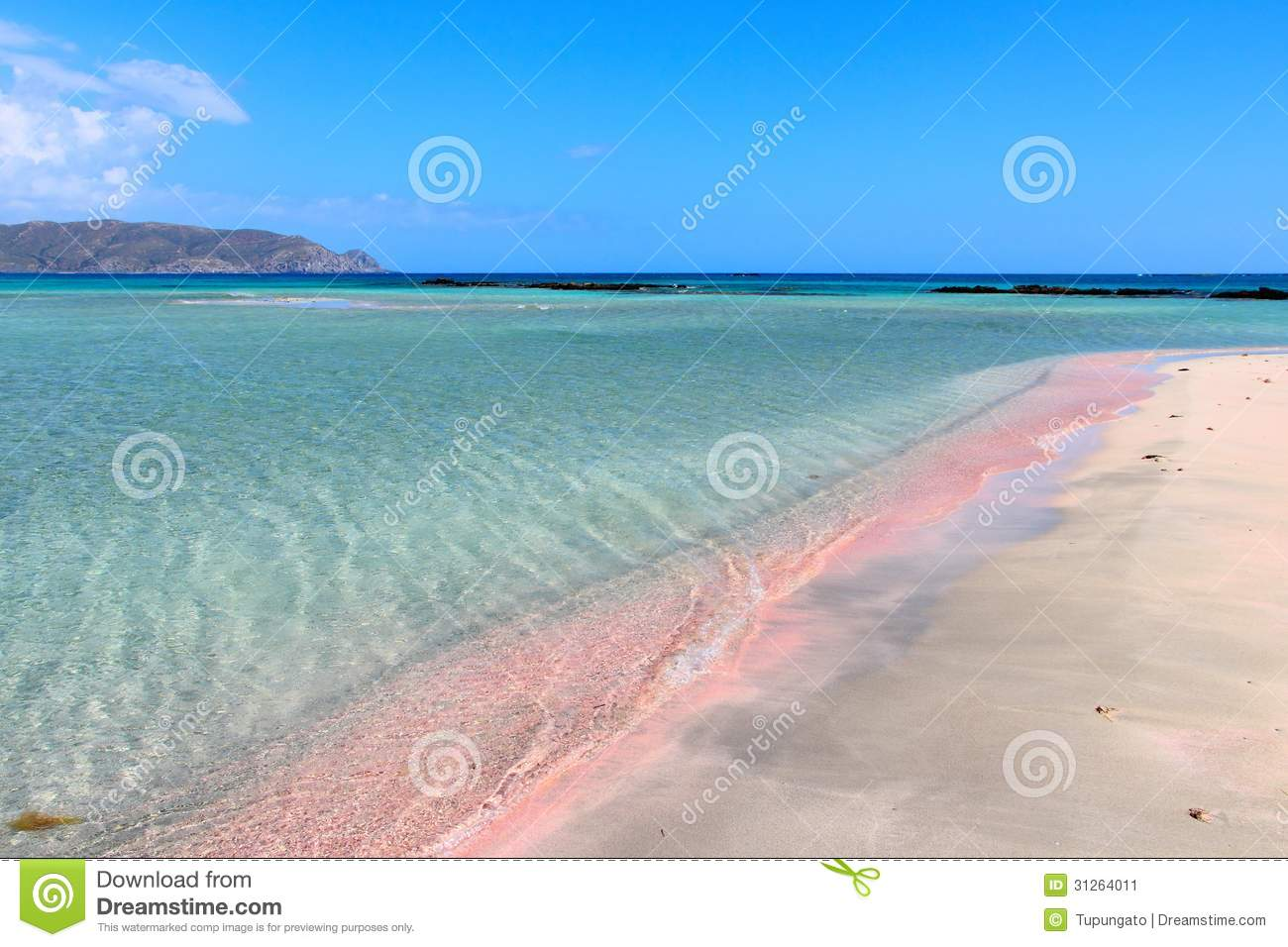 Elafonisi Pink Beach Stock Image Image Of Wave Europe