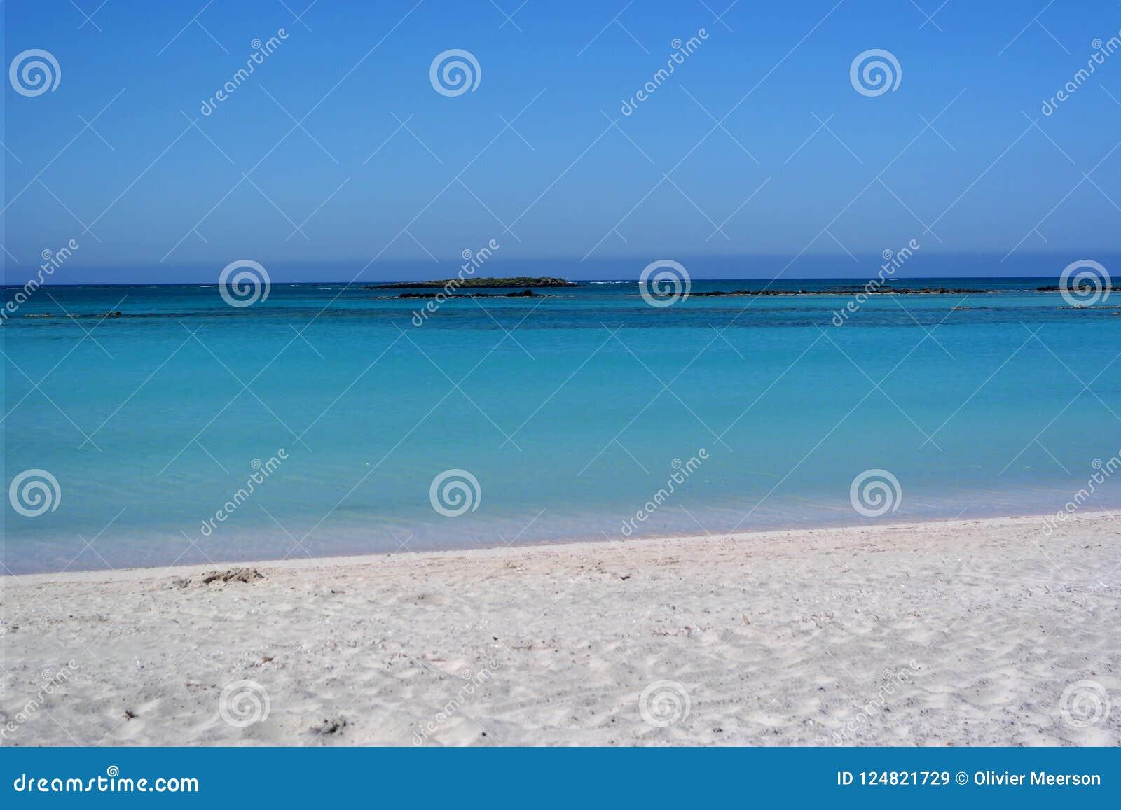 Elafonissos plaża, Crete, Greece