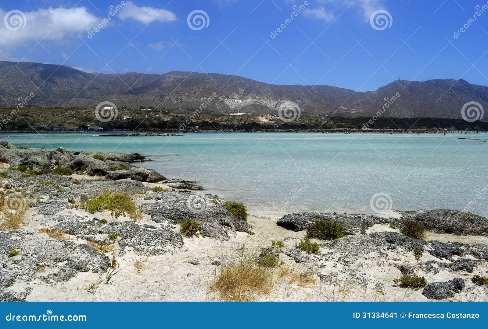 Elafonissos plaża w Grecja