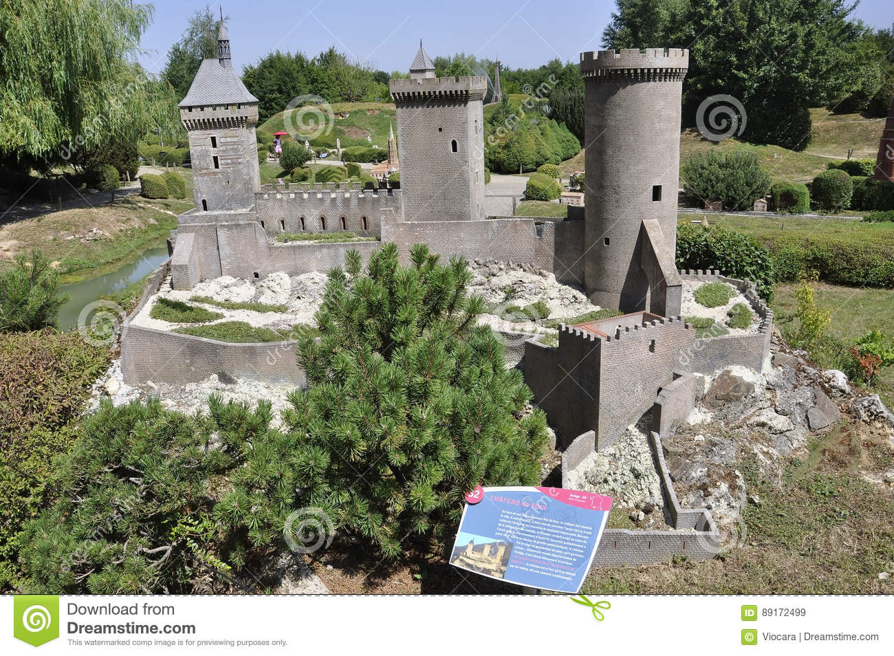 Elancourt F,July 16th: Chateau de Foix in the Miniature Reproduction of Monuments Park from France