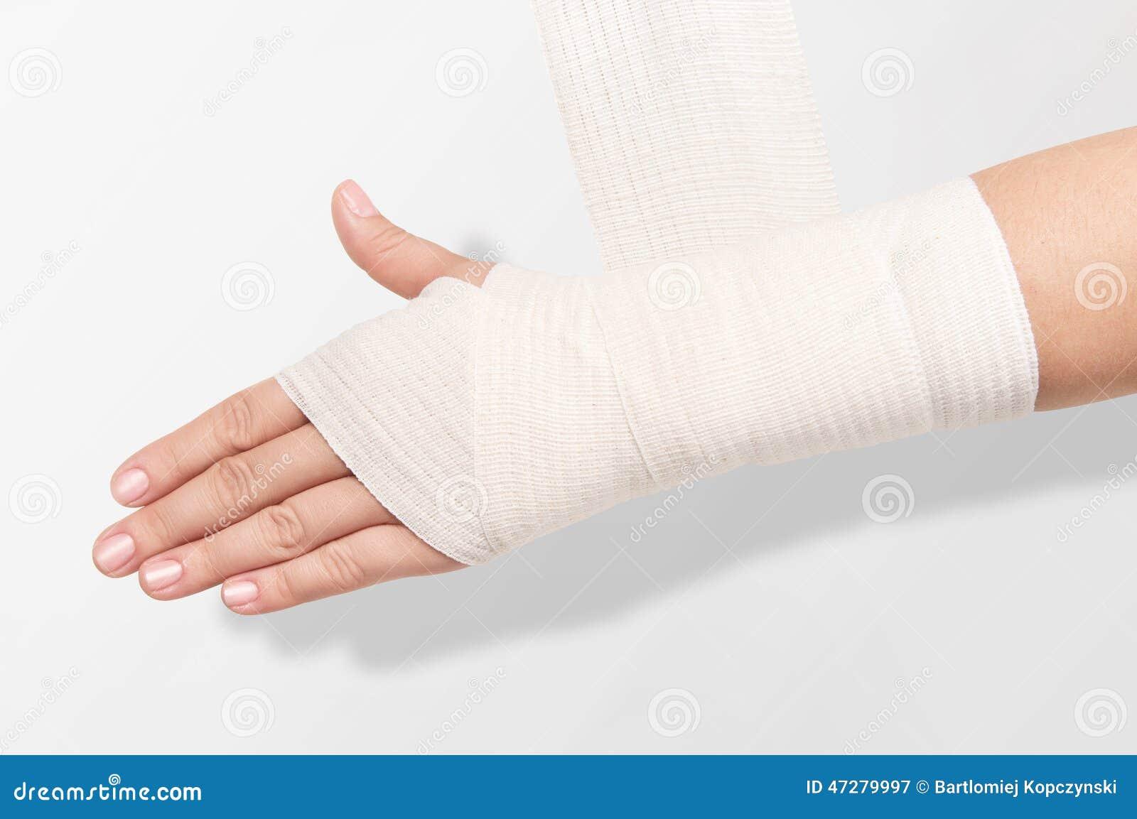 Elastic Bandage On The Hand Stock Image Image Of Medicine Limb