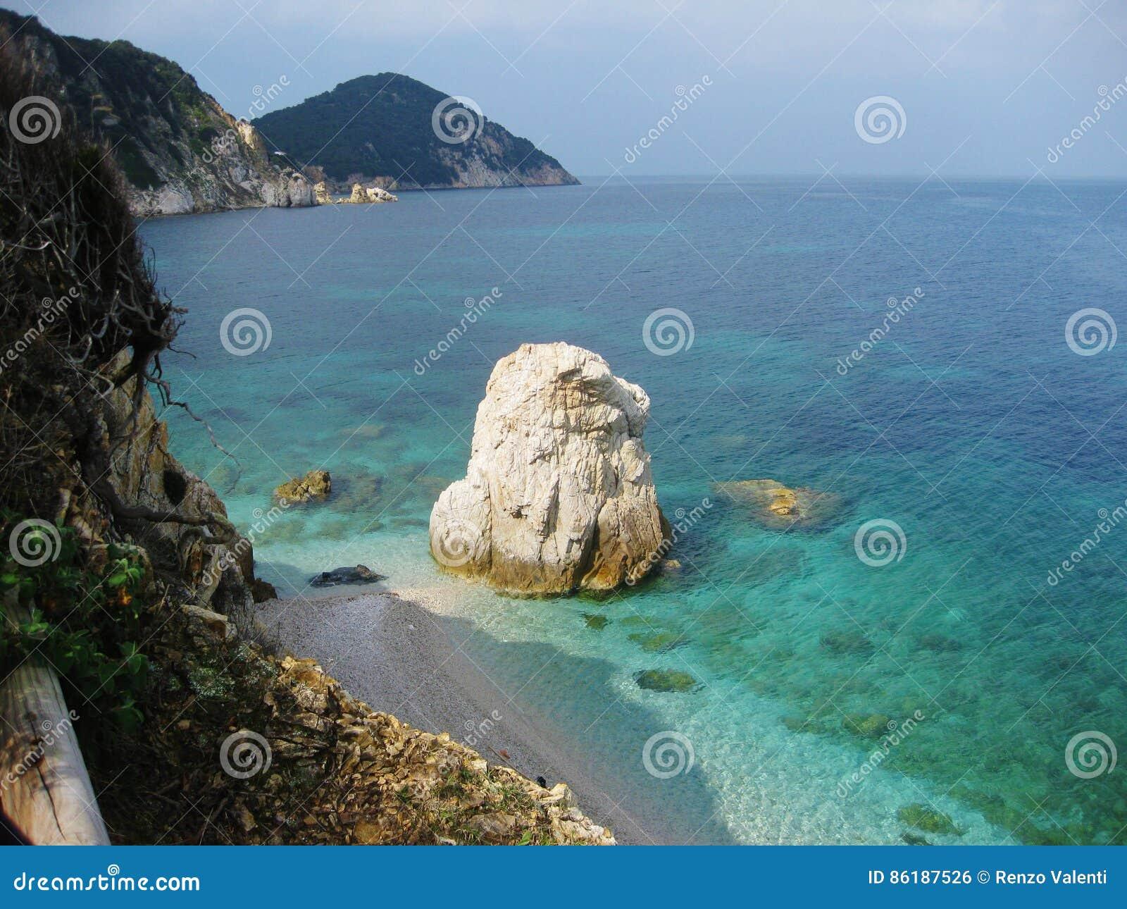 Elba wyspa, północny wybrzeże, Włochy