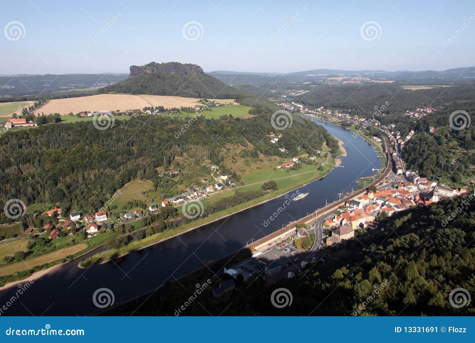 Elbe rzeki widok