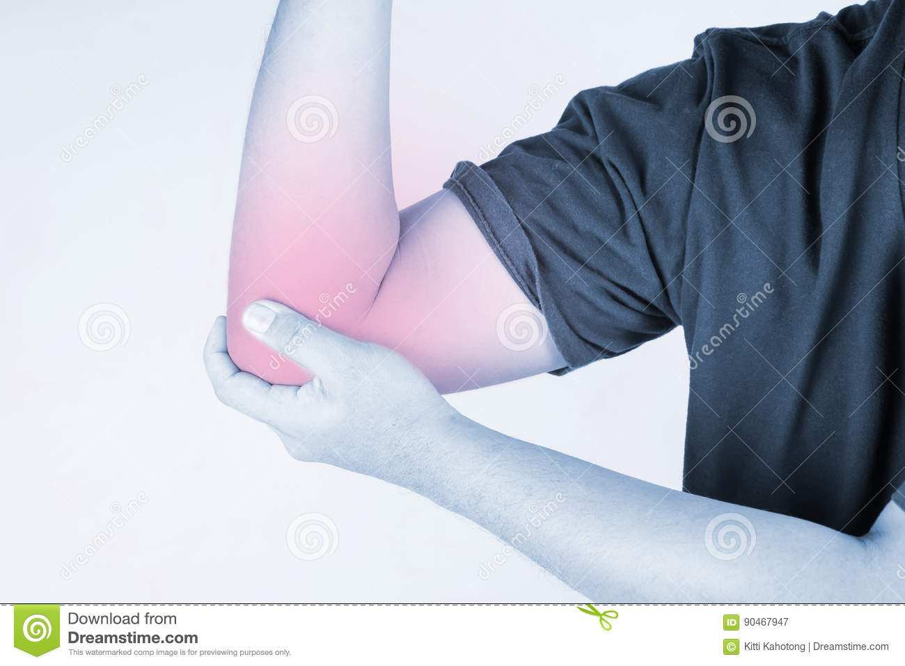 Elbow Injury In Humans .elbow Pain,joint Pains People Medical, Mono ...