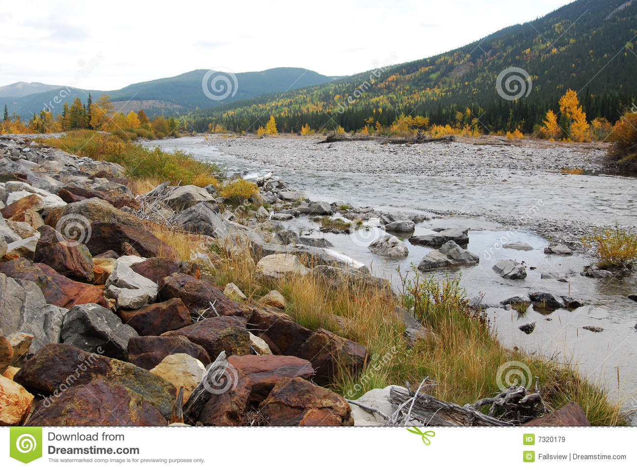 Elbow River Valley In Autumn Royalty Free Stock Images - Image: 7320179