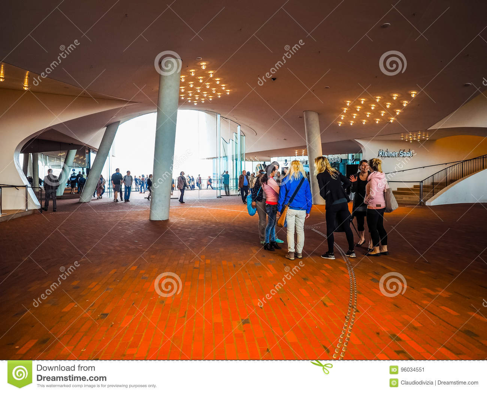 Elbphilharmonie filharmonii plac w Hamburskim hdr