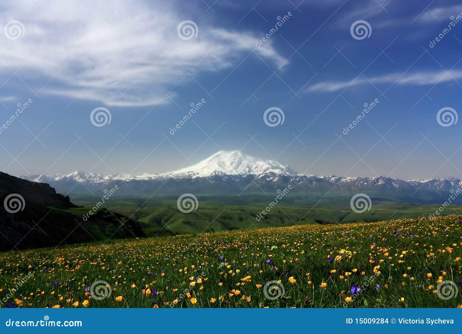 Elbrus en de Belangrijkste Kaukasische bergrand