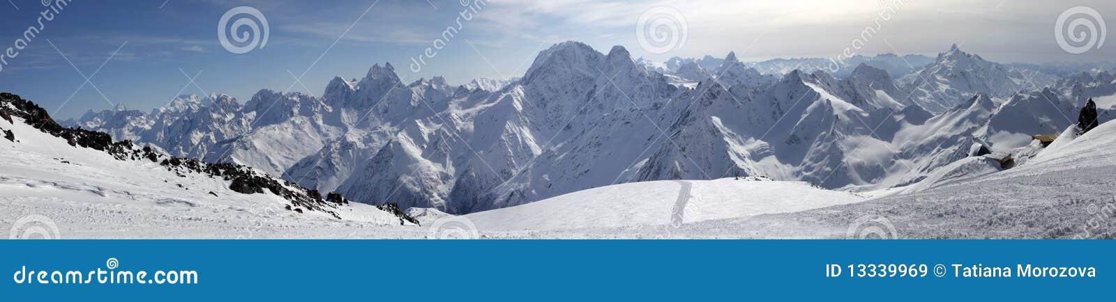 Elbrus góry panorama