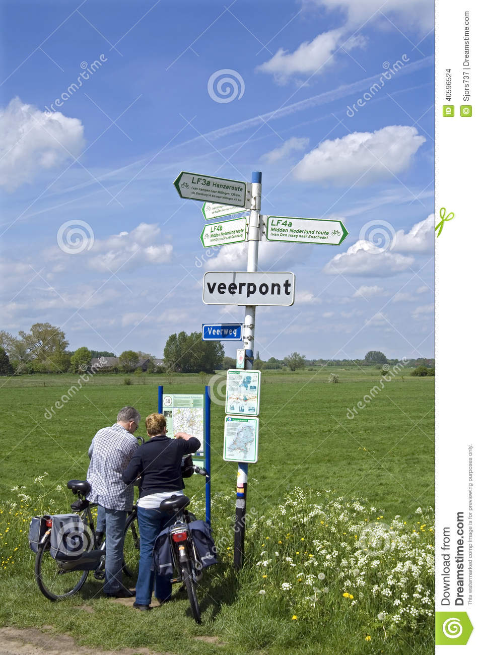 Elderly Bikers Reading Road Map In Countryside Editorial Stock Image ...