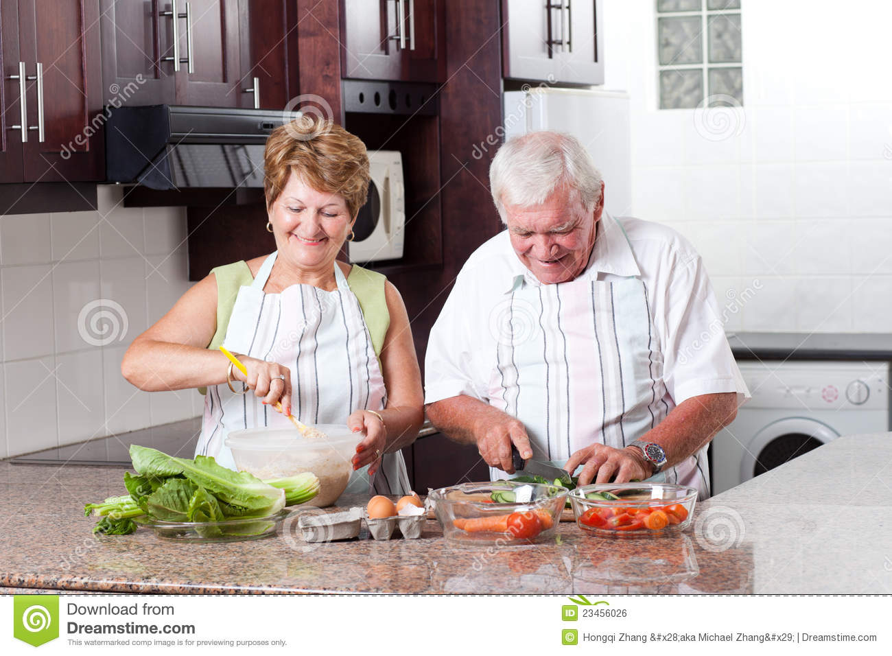 Elderly couple cooking royalty free stock image image 23456026 Kitchen design for elderly
