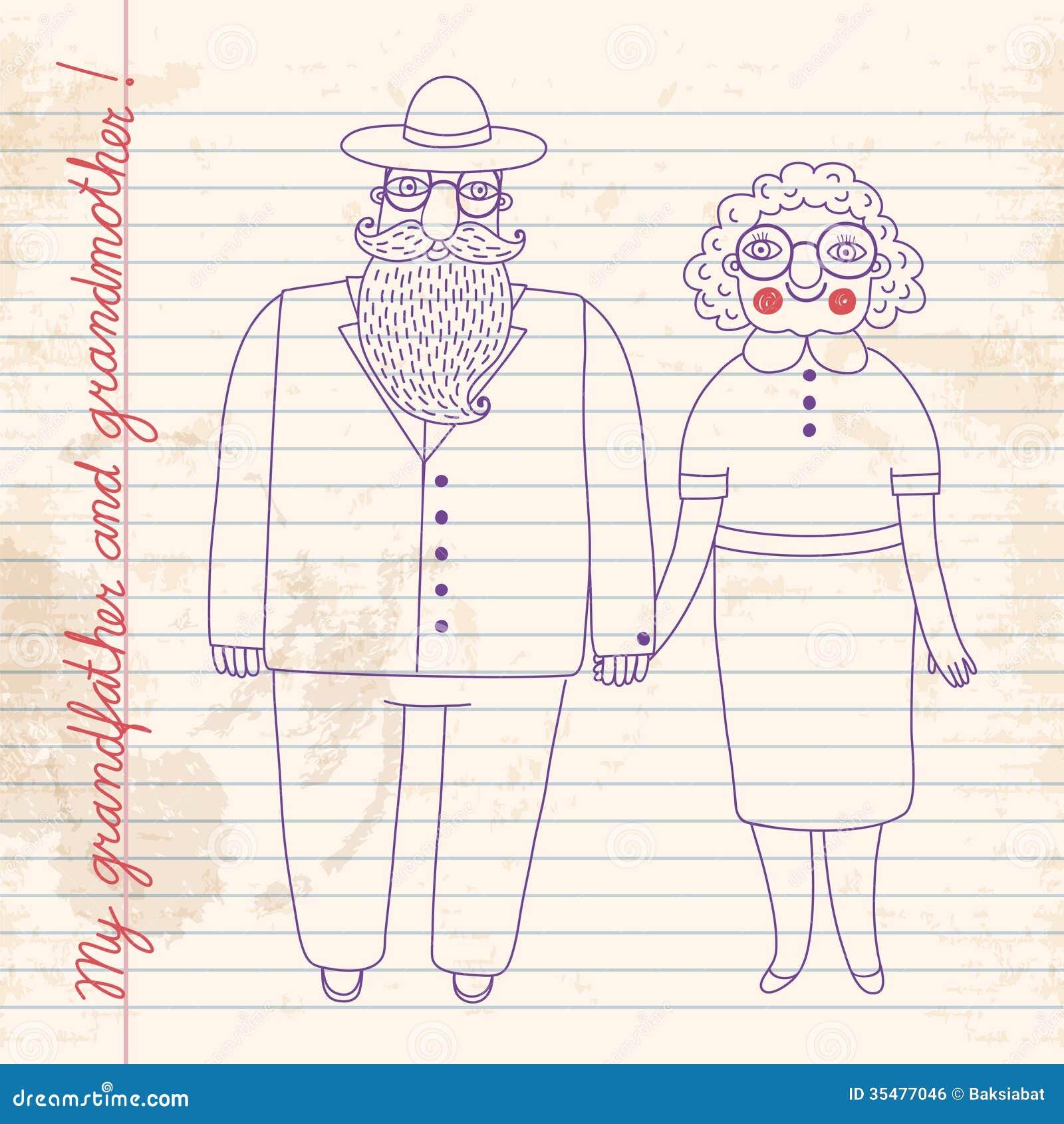 Elderly couple. Grandparents.
