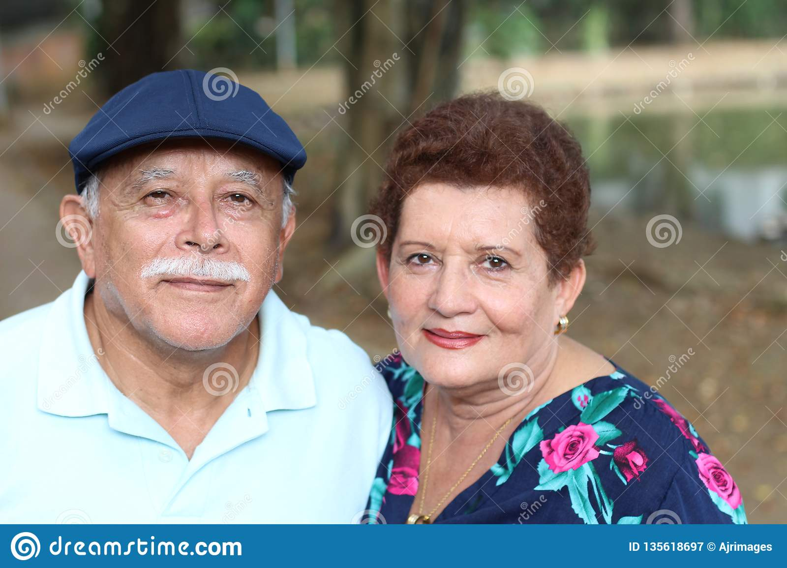 Elderly Couple Having Fun Outdoors Stock Image Image Of