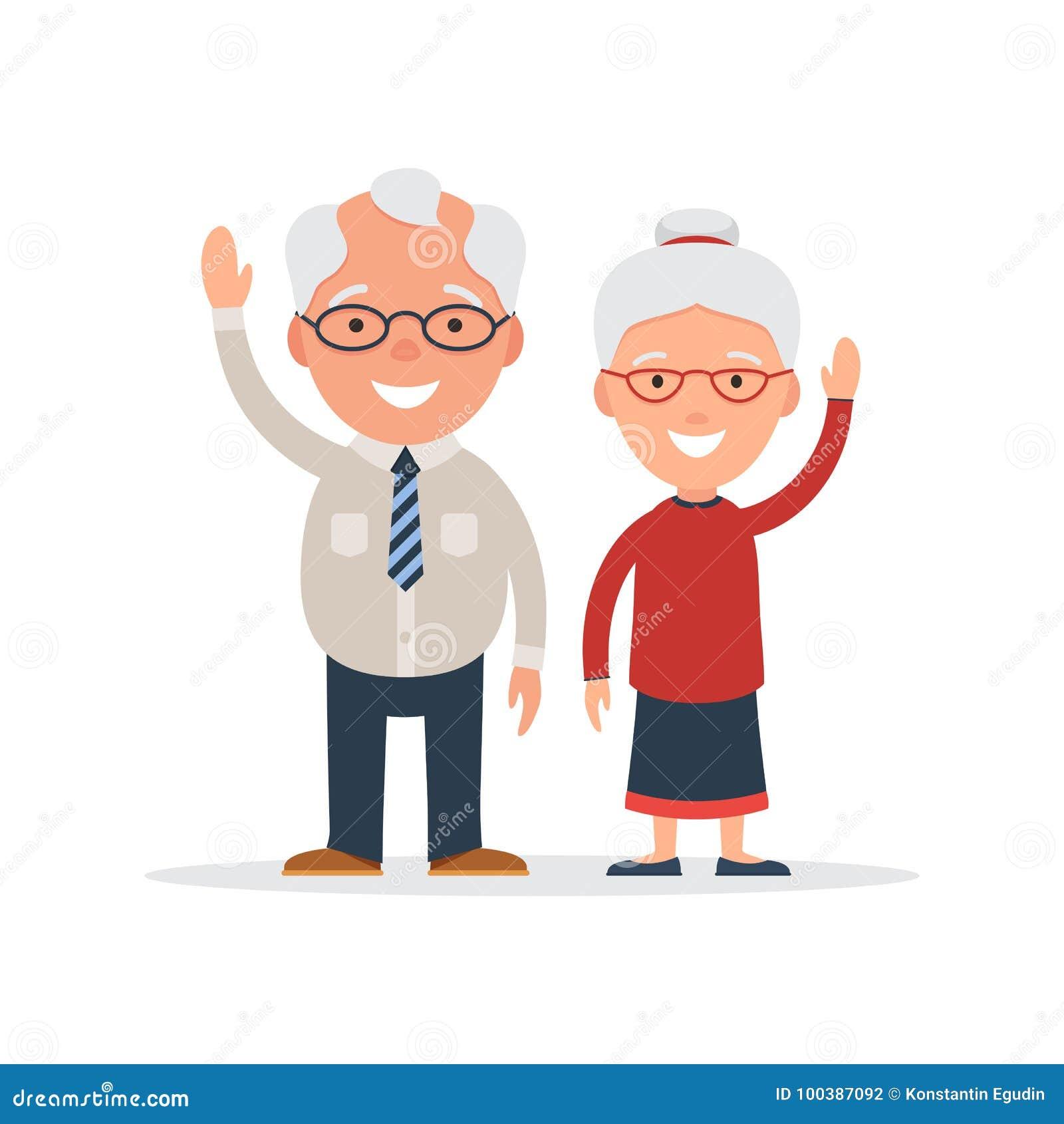 Wishes to Grandpa Happy Elderly Man 60