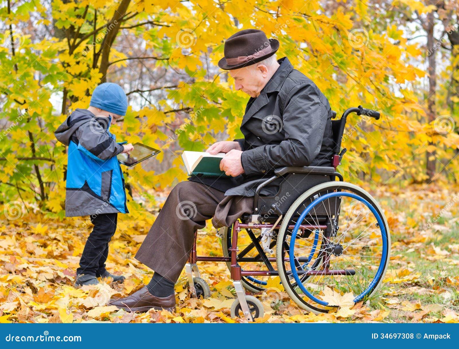 Grandpa In Wheelchair Clip Art Book wheelchair enjoying