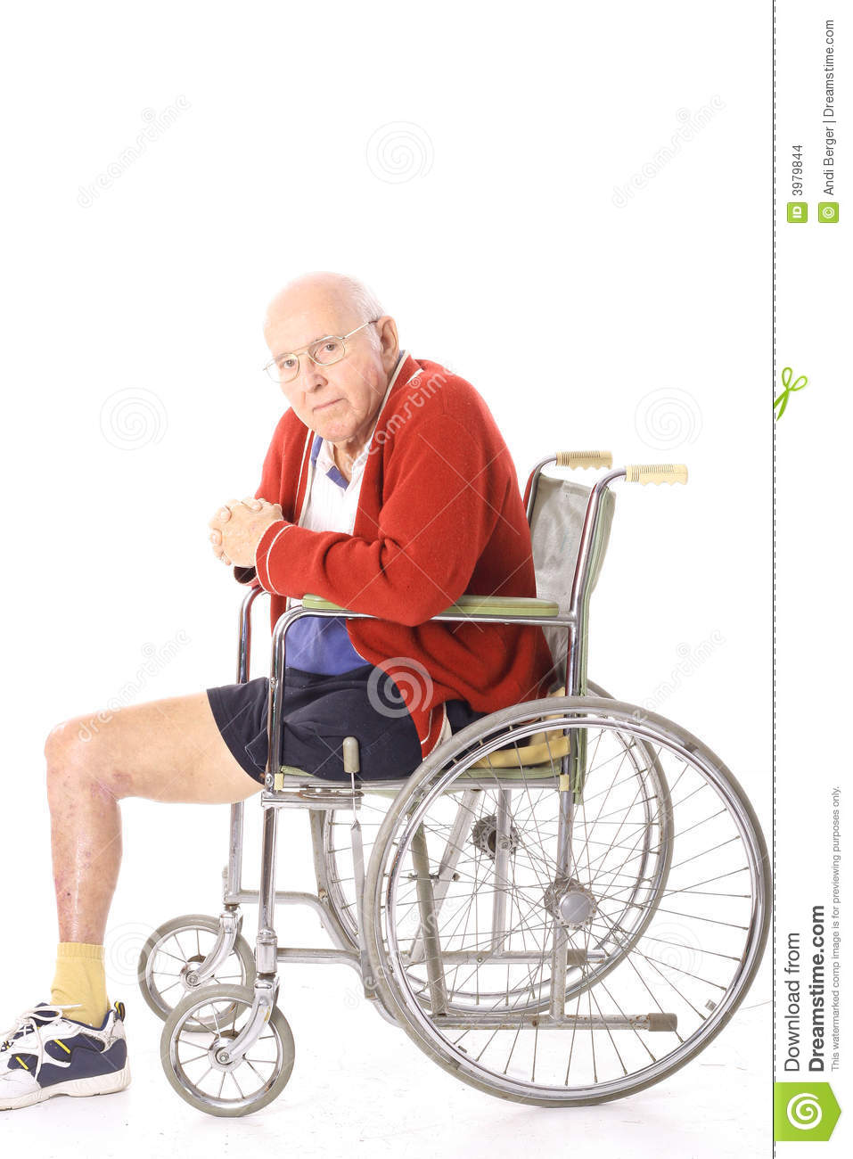 Elderly Disabled Man In Wheelchair Stock Images Image
