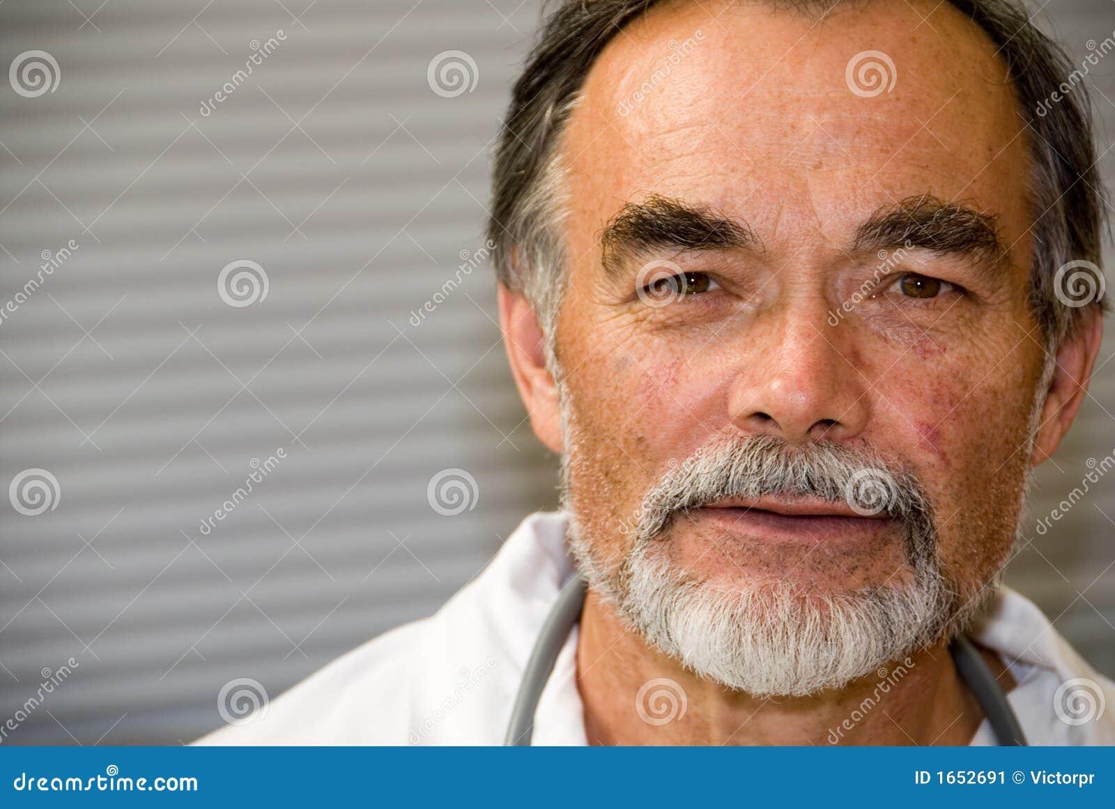 Elderly doctor