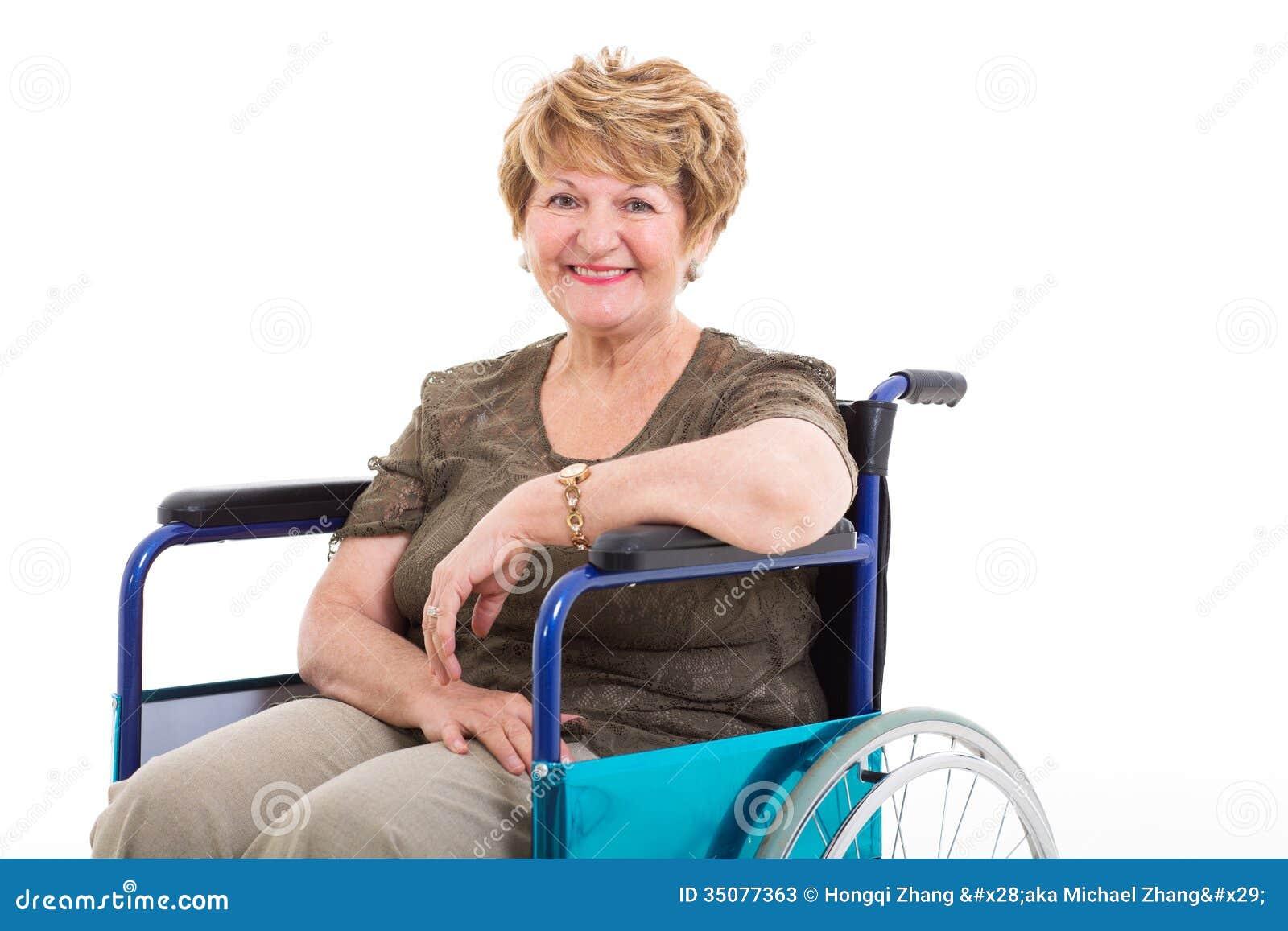 Elderly Handicapped Woman Wheelchair Stock Photos Image