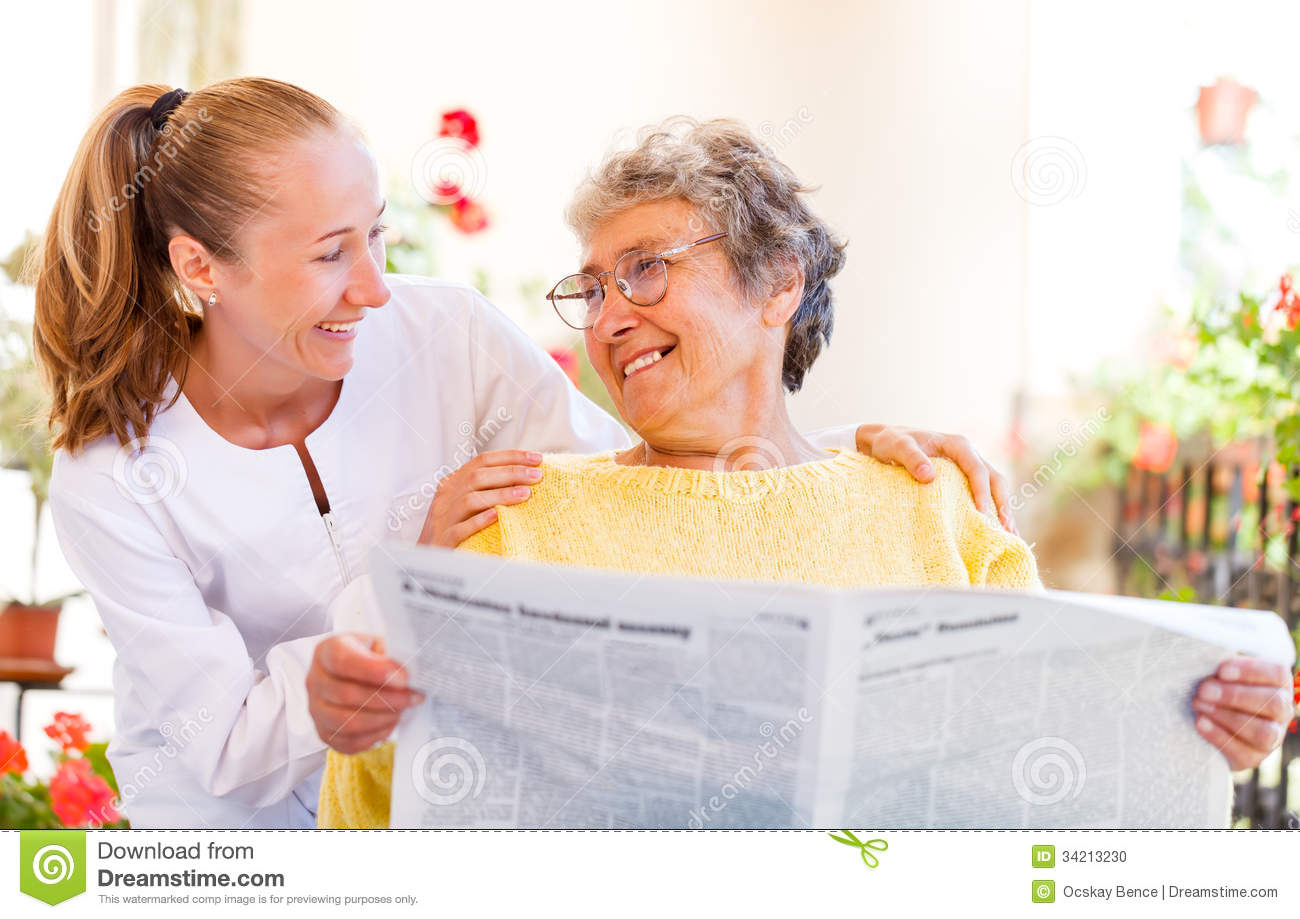 Elderly home care stock photo image 34213230 for Home for handicapped