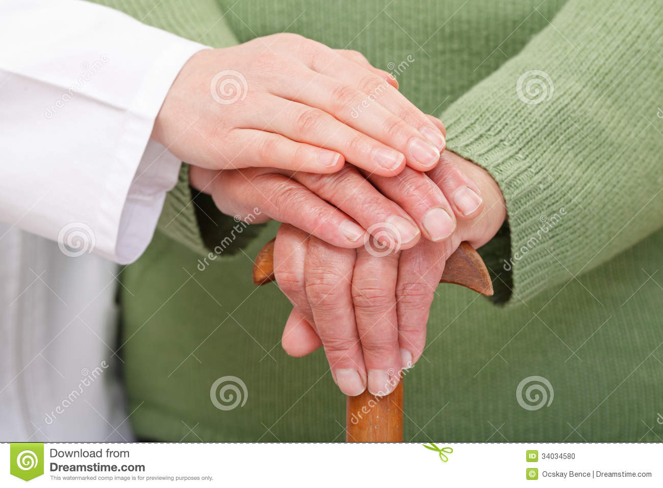 Elderly home care stock photo  Image of doctor, assistance