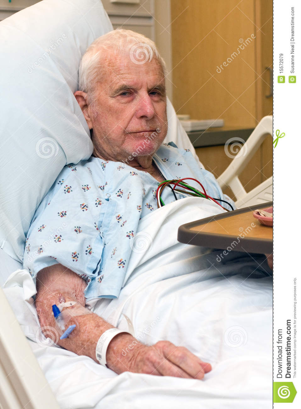 Elderly Hospital Patient Finished Dinner Royalty Free Stock Images ...