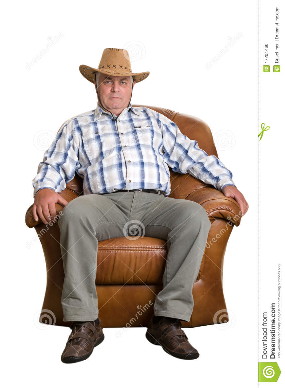 Stock Photo Elderly Man Cowboy Hat Sitting Chair Image17204460 on gray rocking chair