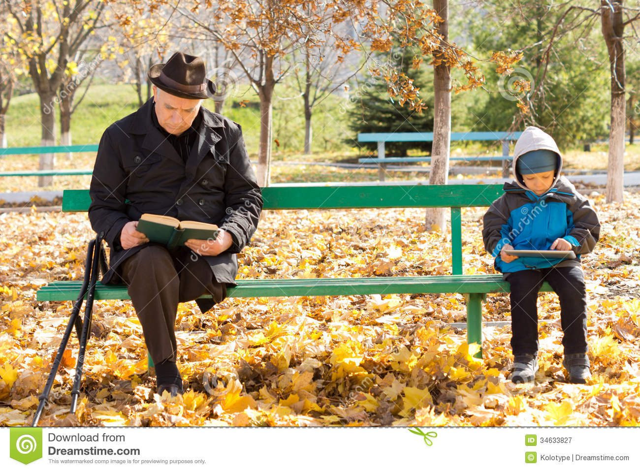 ... On A Park Bench Royalty Free Stock Photography - Image: 34633827